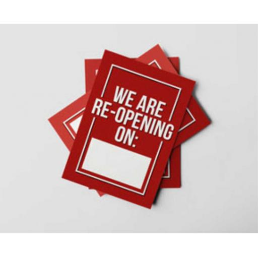 A5 - We Are Re-Opening Flyers
