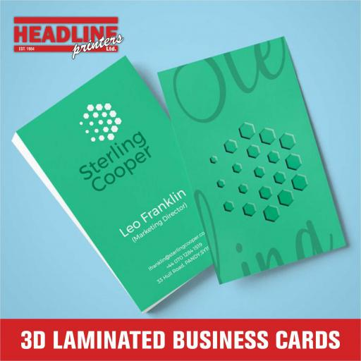 3D Laminated Business Cards