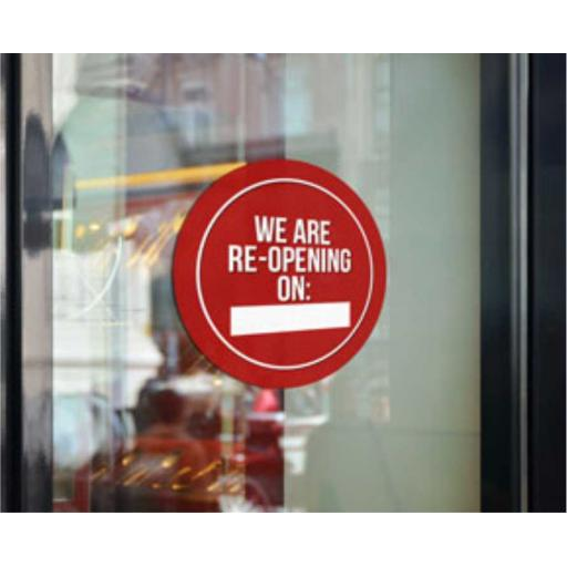 We Are Re-Opening Window Cling