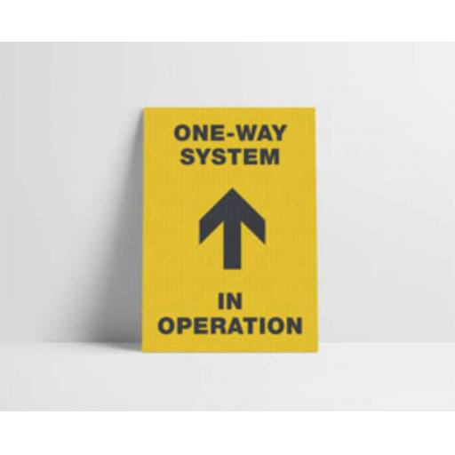 One-Way System in Operation Poster