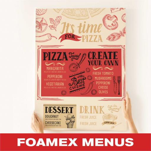 Foamex Menu Boards