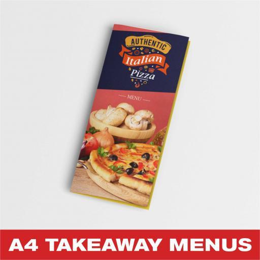 A4 Takeaway Menus