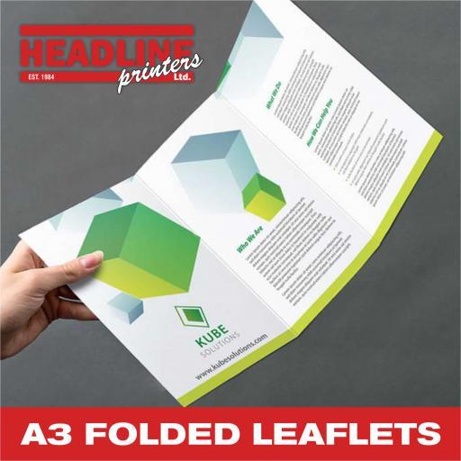 A3 Folded Leaflets