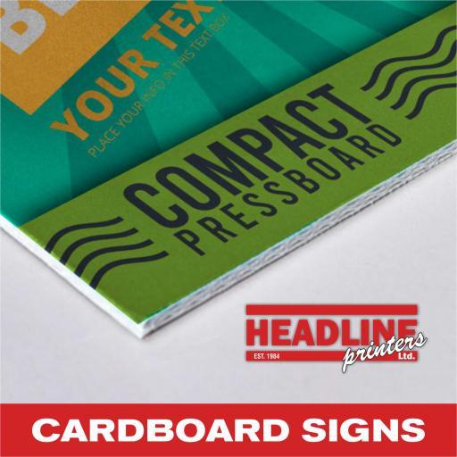 A3 Cardboard Signs