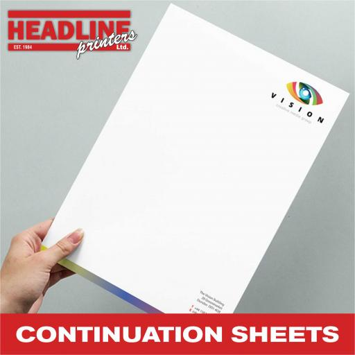 Continuation Sheets