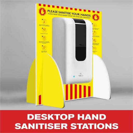 Desktop Hand Sanitiser Stations
