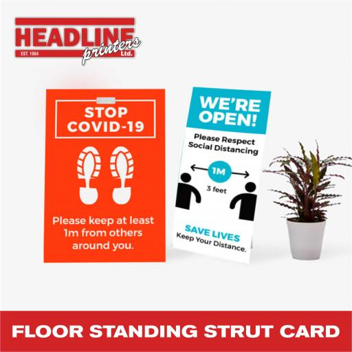 Floor Standing Strut Card