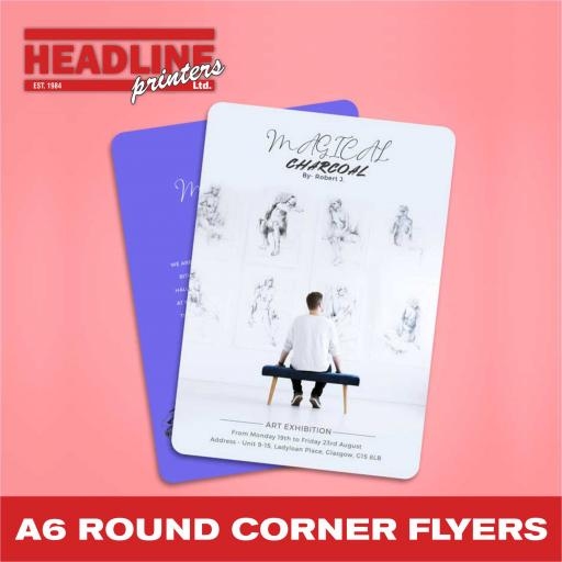 A6 Rounded Corner Flyers