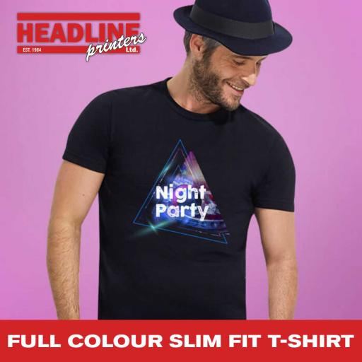 Full Colour Slim Fit T-Shirt