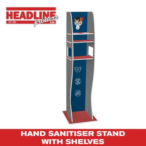 Hand Sanitiser Stand with Shelves