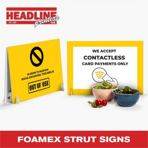 Foamex Strut Cards