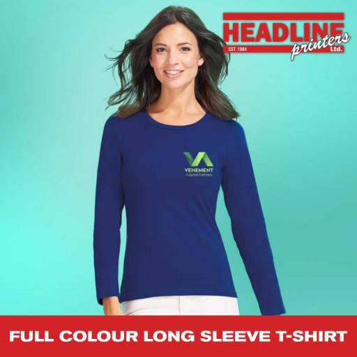 Full Colour Long Sleeve T-Shirt
