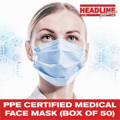 PPE Certified Medical Face Mask (Box of 50)