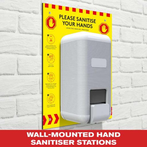 Wall-Mounted Hand Sanitiser Stations