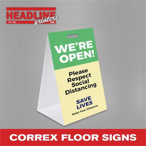 Correx Floor Signs