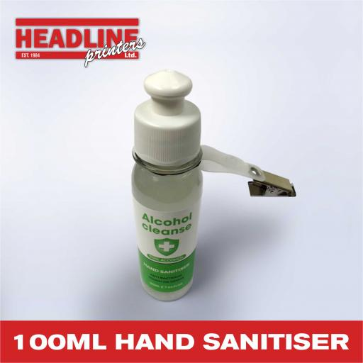 100ml Hand Sanitiser with Clip