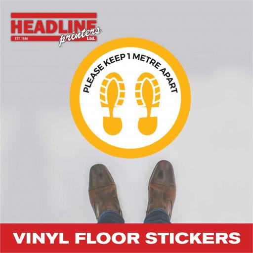 Covid-19 Vinyl Floor Stickers