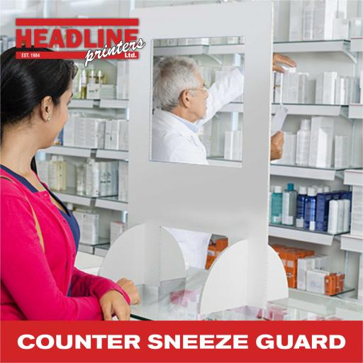 Counter Sneeze Guard