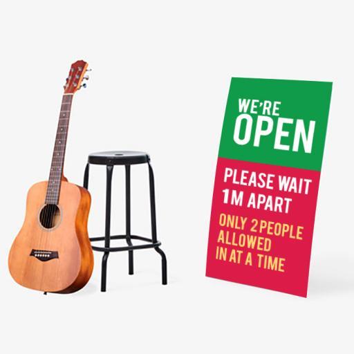 We are open Floor standing display board.jpg
