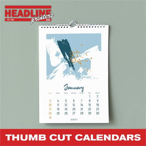 Thumb Cut Wall Calendars