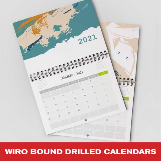 Wiro Bound Drilled Calendars