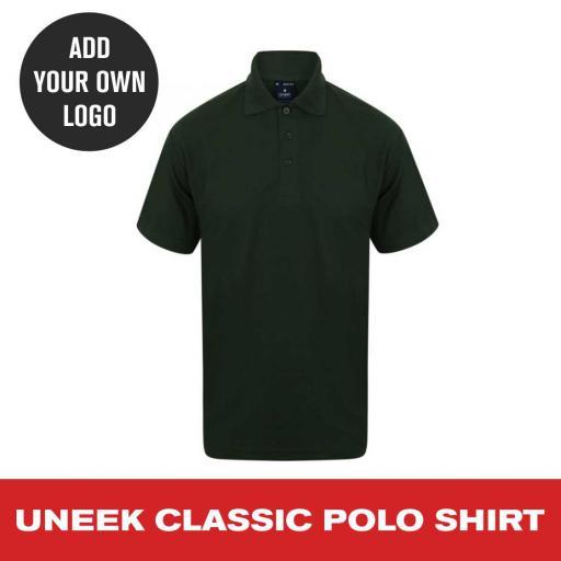 Uneek Classic Polo Shirt - Bottle Green.jpg