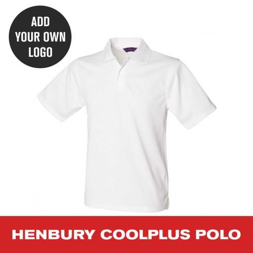 Henbury Coolplus Polo Shirt - White.jpg