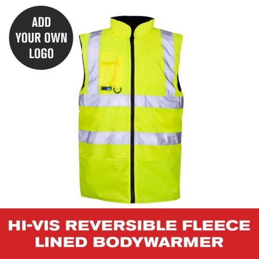 Hi Vis Fleece Lined Bodywarmer